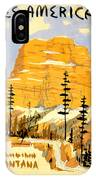 Vintage See America Travel Poster IPhone Case