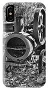 Vintage Steam Tractor Black And White IPhone Case