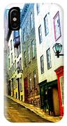 Vintage Style City Street Scene Photograph IPhone Case
