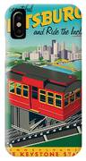 Pittsburgh Poster - Incline IPhone Case