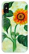 Vintage Sunflowers IPhone Case