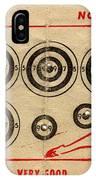 Vintage Target Card IPhone Case