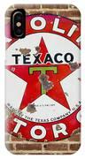 Vintage Texaco Gasoline Sign Dsc07195 IPhone Case
