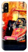 Vintage Top Fuel Dragster Fire Burnout-wild Bill Carter IPhone Case