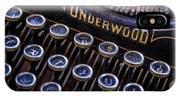 Vintage Typewriter 2 IPhone Case