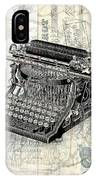 Vintage Typewriter French Letters Square Format IPhone Case