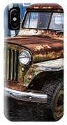 Vintage Willy's Jeep Pickup Truck IPhone Case
