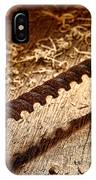 Vintage Wood Drill IPhone Case