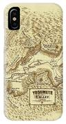 Vintage Yosemite Map 1870 IPhone Case