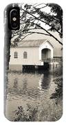 Vintaged Covered Bridge IPhone Case