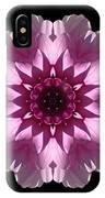 Violet And White Dahlia I Flower Mandala IPhone Case