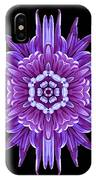 Violet Chrysanthemum Iv Flower Mandala IPhone Case