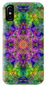 Violet Cosmos Mandala IPhone Case