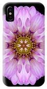 Violet Dahlia II Flower Mandala IPhone Case