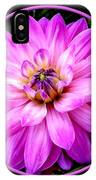 Violet Dahlia IPhone Case