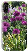 Violet Flowerbed IPhone Case
