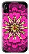 Violet Zinnia Elegans Flower Mandala IPhone Case