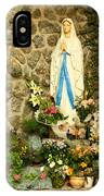 Virgin Mary Grotto IPhone Case