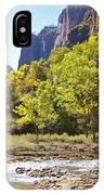 Virgin River In Zion National Park IPhone Case
