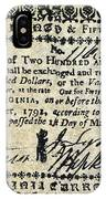 Virginia Banknote, 1781 IPhone Case