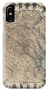 Virginia Map With Civil War Heroes IPhone Case