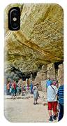 Visitors To Spruce Tree House On Chapin Mesa In Mesa Verde National Park-colorado IPhone Case