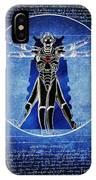 Vitruvian Cyberman In Deep Space  IPhone Case