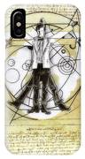 Vitruvian Dr Who IPhone Case