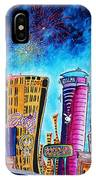 Viva Las Vegas A Fun And Funky Pop Art Painting Of The Vegas Skyline And Sign By Megan Duncanson IPhone Case