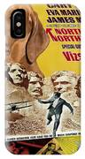 Vizsla Art Canvas Print - North By Northwest Movie Poster IPhone Case