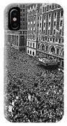 Vj Day Times Square New York City 1945 Color Added 2013 IPhone Case