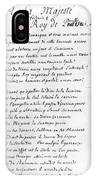 Voltaire Letter, 1740 IPhone Case