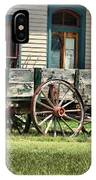 Wagon Wheels In Dodge City IPhone Case