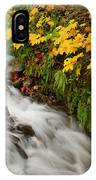 Wahkeena Falls At Columbia River Gorge In The Fall IPhone Case