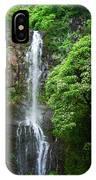 Waikani Falls At Wailua Maui Hawaii IPhone Case