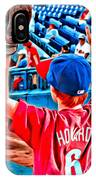 Waiting For A Foul Ball IPhone Case