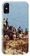 Waiting For The Sunset In Santorini IPhone Case
