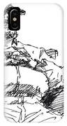 Waiting Room Nap Sketch IPhone Case