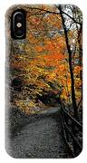 Walk In Golden Fall IPhone Case