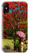 Walking Along The Road. Mauritius IPhone Case