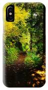 Walking An Autumn Path IPhone Case