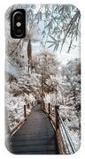 Walking Into The Infrared Jungle 3 IPhone Case