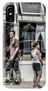Walking On Railroad Street - Great Barrington IPhone Case