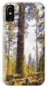 Walking Small In The Tall Forest IPhone Case