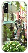 Walking Verdun In Summer Winding Staircases And Pathways Urban Montreal City Scenes Carole Spandau IPhone Case