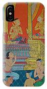 Wall Painting 2 In Wat Po In Bangkok-thailand IPhone Case