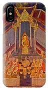 Wall Painting 3 At Wat Suthat In Bangkok-thailand IPhone Case