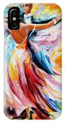 Waltz - Palette Knife Oil Painting On Canvas By Leonid Afremov IPhone Case