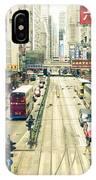 Wan Chai Street View In Hong Kong IPhone Case