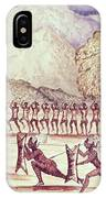 War Dance, Illustration From The Albert Nyanza Great Basin Of The Nile By Sir Samuel Baker, 1866 Wc IPhone Case